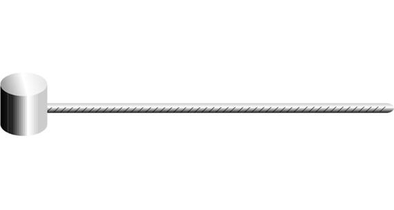Jagwire MTB Edelstahl Jarrukaapeli 1700 mm , hopea